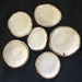 Set of 6 Beautiful little dishes with gold lustre