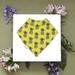 Bandana Baby Bib (100% Cotton) - Pineapples - Made in New Zealand