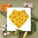 Bandana Baby Bib (Organic Cotton) - Bumblebees - Made in New Zealand