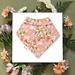 Bandana Baby Bib (Organic Cotton) - Penda Flower - Made in New Zealand
