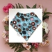 Bandana Baby Bib (Organic Cotton) - Gum Blossoms - Made in New Zealand