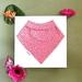 Bandana Baby Bib (Organic Cotton) - Pink Dot - Made in New Zealand