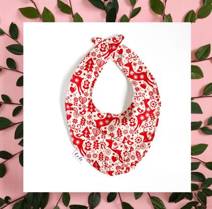 Christmas Bib (100% Cotton) - Made in New Zealand