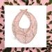 Baby Bib (100% Cotton) - Sakura / Cherry Blossom - Made in New Zealand