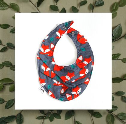 Baby Bib (100% Cotton) - Red Fox - Made in New Zealand