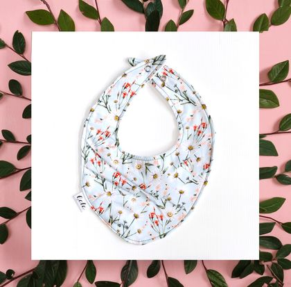 Baby Bib (100% Cotton) - Wildflowers - Made in New Zealand