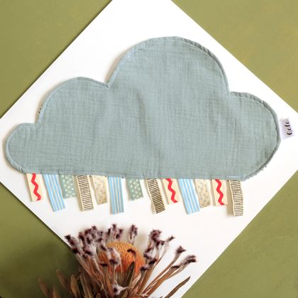 Cloud Taggie Baby Sensory Blanket - Green - 100% Cotton - Made in New Zealand