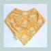 Bandana Baby Bib (100% Cotton) - Hydrangea - Made in New Zealand