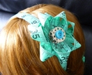 measuring tape headband with sewing notions