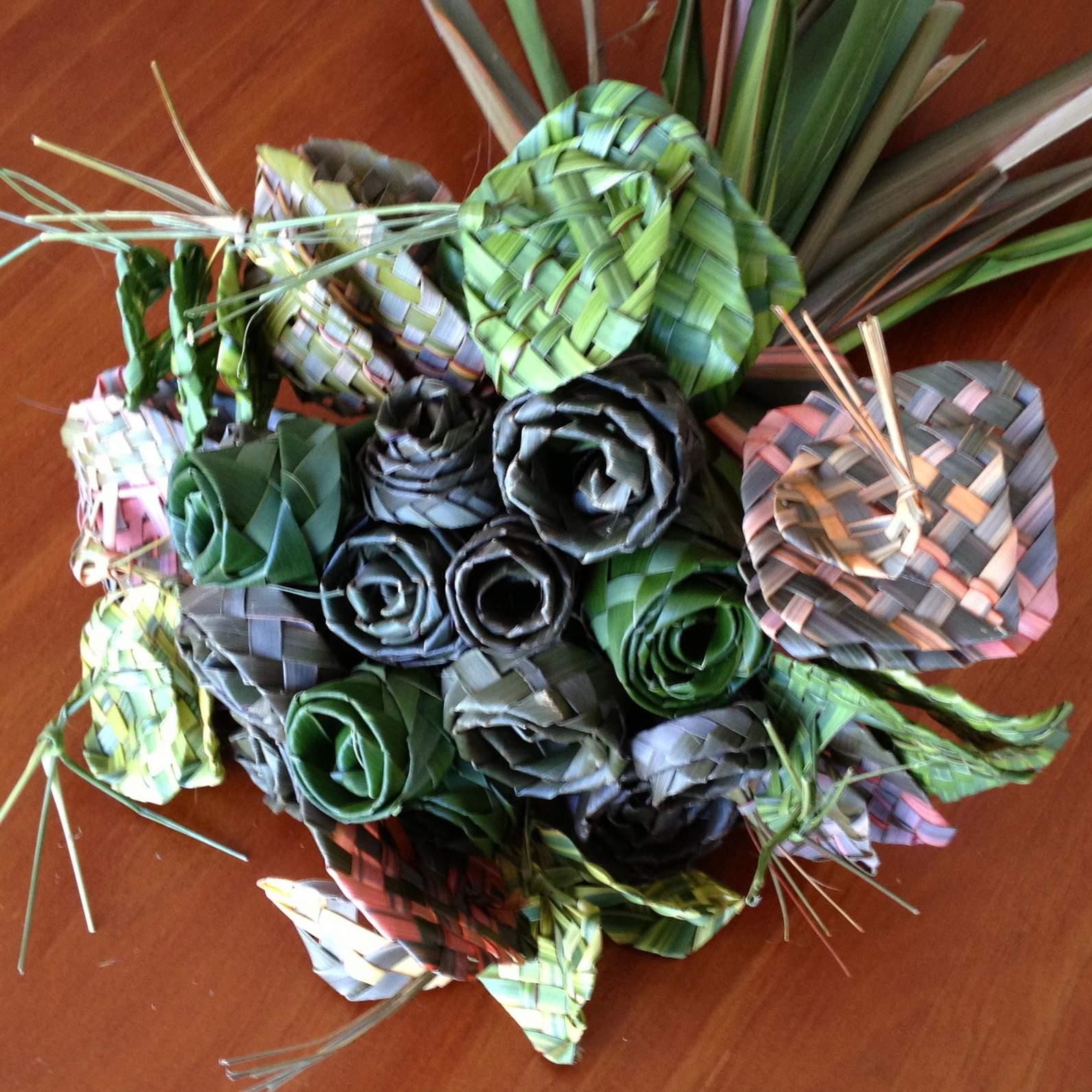 Bunch Of Harakeke Flax Flowers Felt