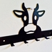 Cow Key/Coat Hanger 6 Hooks NZ Made