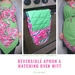 Reversible Apron with Matching Oven Mitt