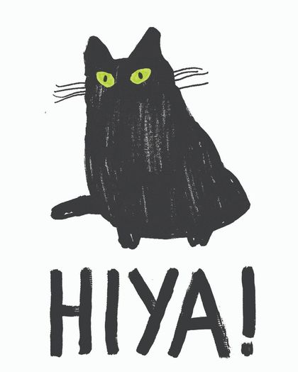 Hiya Cat card