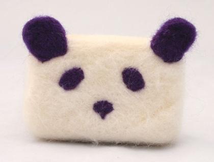 Panda Felted Soap