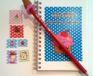 Grumpy Cupcake stationery set #2 - Special Limited Edition Oopsy Daisy Pencil!