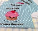Sad Food Character Notecards Featuring 'Grumpy Cupcake'!