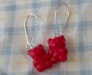Yummy Lucky Gummy Bear! Red Earrings