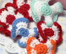 Strawberry Candy Wrapper Crocheted Hair Barrette