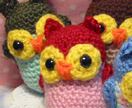 Hootie Cuties! Little Red Owl Crocheted Amigurumi