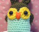 Hootie Cuties! Little Green Owl Crocheted Amigurumi