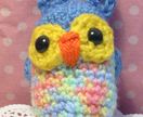 Hootie Cuties! Little Blue Amigurumi Owl