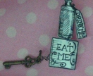 Eat Me! Drink Me! Brooch