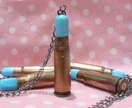 Recycled Bullet Casing Pendant Necklace