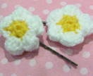 Sweet Puffy Strawberry Flower Hair Clips (Set of Two)