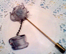 Mad Hatter's Tea Time Stick Pin