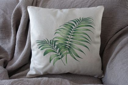 Palm Frond Cushion Cover