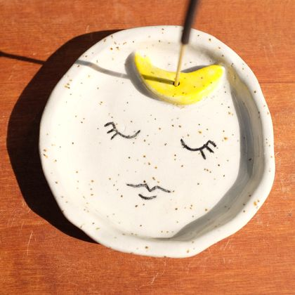 Sleepy Moon Incense Holder