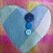 Vintage blanket love heart hottie cover