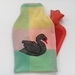 Vintage blanket black swan hottie cover