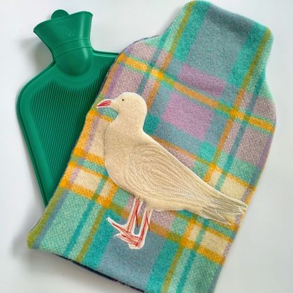 Vintage blanket seagull hottie cover