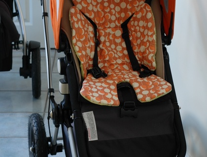 All size Pram Liner (lily pad Rust Martini)