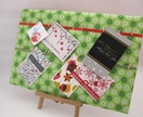Xmas Card Keeper - Fern Green Xmas Baubles horizontal board