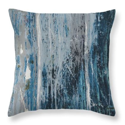 Weathered wood print cushion