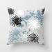 Abstract chrysanthemum cushion in powder blue - Ready to ship!