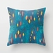 Abstract art cushion in turquoise