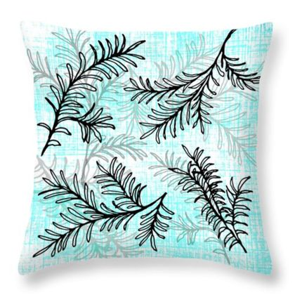 Miro tree leaf cushion New Zealand natives