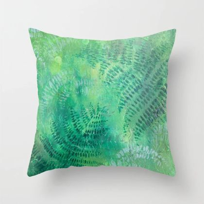 New Zealand ferns cushion