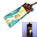 Wooden Toki Pendant Necklace with glow-in-the-dark koru inlay