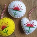 Embroidered Pohutukawa on Felt