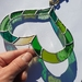 Green Stained-Glass Heart