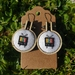 Mini-embroidery Hoop Earrings