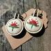 Mini Embroidery Hoop Earrings