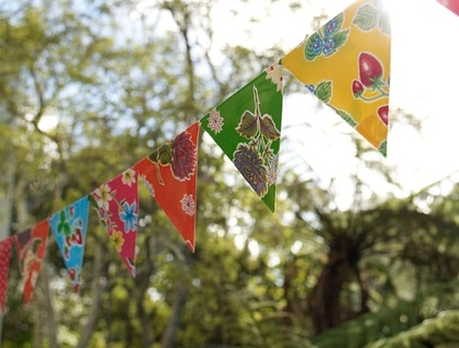 Outdoor Oilcloth Bunting