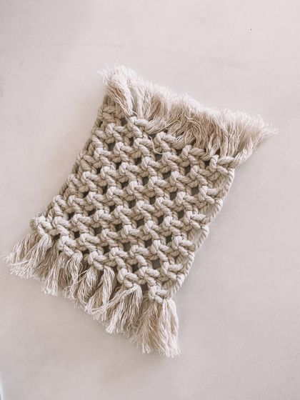 CANDLE RUG - Natural macrame