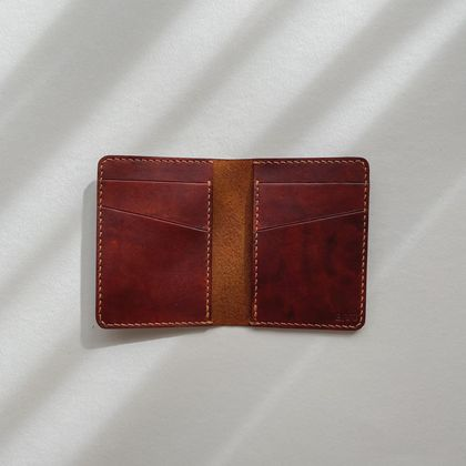 Leather Bifold Card Wallet
