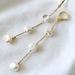 【 Sale 】Natural Keshi Pearl Long Earrings
